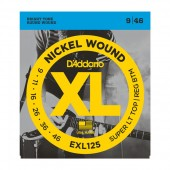 D'Addario EXL125 Electric Guitar Strings Super Light Top / Regular Bottom 9-46