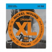 D'Addario EXL140 Electric Guitar Strings Light Top / Heavy Bottom 10-52