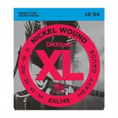 D\'Addario EXL145 Electric Guitar Strings Nickel Wound Heavy Plain 12-54