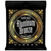 Ernie Ball 2570 Aluminum Bronze Extra Light Gauge Acoustic Guitar Strings 10-50