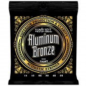 Ernie Ball 2568 Aluminum Bronze Light Gauge Acoustic Guitar Strings 11-52