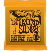 Ernie Ball 2222 Nickel Hybrid Slinky Electric Guitar Strings Orange 9-46