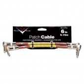 """Fender 6"""" Custom Shop Guitar Patch Cable (2-pack) - Tweed, Dual Angled"""